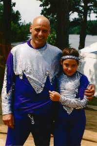 d and daugher before skiing at State Competition 1999